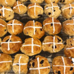 Vegan Hot Cross Buns with Cranberries and Frosting for Easter